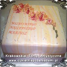 024. Tort z kwiatami dla klubu Orchidea. Floral cake for Orchid club.