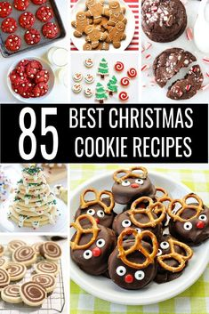 Don't stress over baking for your Christmas cookie exchange! Get ready with the 85 Best Christmas Cookie Recipes! From chocolate and sugar to peppermint and ginger there's an easy Christmas cookies recipe for everyone! Easy Christmas Cookie Recipes, Christmas Cookie Exchange, Best Christmas Cookies, Best Cookie Recipes, Christmas Desserts, Holiday Recipes, Christmas Ideas, Christmas Goodies, Cookie Exchange Party