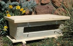 Golden Mean Top Bar Hive with a Viewing Window