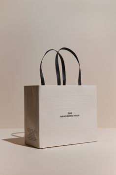 The Handsome Haus by Charry Jeon, via Behance Clothing Packaging, Fashion Packaging, Luxury Packaging, Bag Packaging, Custom Packaging, Jewelry Packaging, Fashion Branding, Packaging Ideas, Dessert Packaging