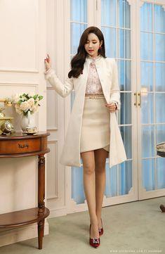 Korean Women`s Fashion Shopping Mall, Styleonme. Cute Korean Fashion, Korean Fashion Street Casual, Korean Fashion Dress, Korean Outfits, Asian Fashion, Fashion Outfits, Womens Fashion, Fashion Ideas, Airport Fashion