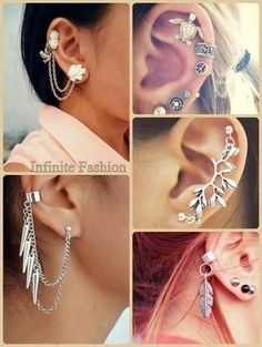 Cartilage piercings and earrings