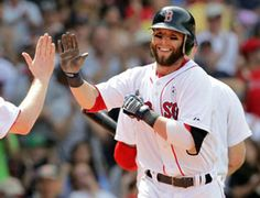 Dustin Pedroia, 2nd baseman for the Boston Red Sox. He has such remarkable skill. I love this guy :)