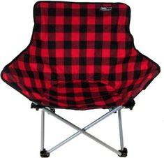 TravelChair ABC Chair - Limited Edition #ad Folding Camping Chairs, Folding Chair, Buffalo Plaid Fabric, Chair Price, Sit Back And Relax, Butterfly Chair, Camping And Hiking, Red Plaid, Furniture