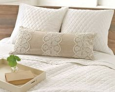 #PineConeHill French Knot Natural Decorative Pillow