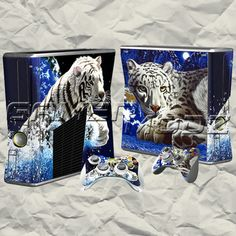 White Tiger XBOX 360 Skin Set - Console with 2 Controllers BTW...for the best game cheats, tips,DL, check out: http://cheating-games.imobileappsys.com/