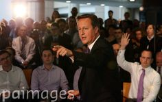 "Prime Minister David Cameron speaks during a visit to Scottish Widows offices in Edinburgh, where he made an impassioned plea to keep Scotland part of the union, saying he would be ""heartbroken"" if the UK was torn apart."