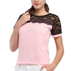 Women Blouses Lace Chiffon Blouse Blusa Feminina Tops Short Sleeve Fashion Chemise Femme Woman Shirts Plus Size 5XL/6XL Red *** Click the VISIT button to enter the website