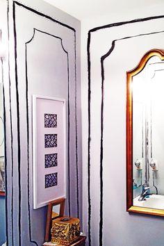 Faux molding. Bathroom Oversized Mirror, Bathroom, Heart, Diy, Furniture, Home Decor, Bath Room, Homemade Home Decor, Bricolage