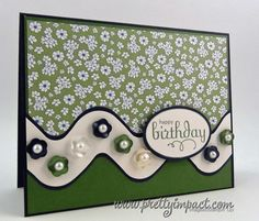 Hers Birthday Card using Stampin Up Perfect Punches