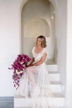 Dried bougainvillea bouquet Wedding Bouquets, Wedding Gowns, Wedding Venues, Greece Wedding, Hawaii Wedding, Godly Wedding, Bougainvillea Wedding, Photo Poses, Wedding Designs