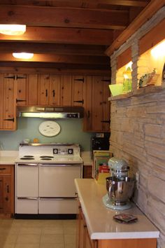 My Father Made Beautiful Knotty Pine Cabinets Out Of Paneling Someone Had  Given Him....mom Loved Them. Lsp Pinner Said: Our 1956 Kitchen   Knotty Pine  And ...