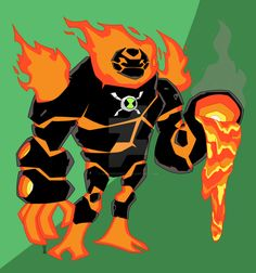 Felt like doing a digital redo of my old Ultimate Heatblast I did a while back. I had the idea of him being able to not only control fire, but Magma as well. His arms can be shaped into c...
