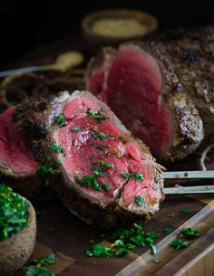 Balsamic dijon crusted beef tenderloin