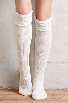 Cabled Over-the-Knee Boot Socks - anthropologie.com