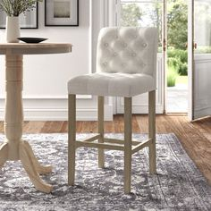 Kitchen Island Chairs With Backs, Kitchen Counter Chairs, Bar Counter, Kitchen Island Seating, White Counter Stools, High Back Bar Stools, Bar Stools With Backs, Living Room Bar, Dining Room