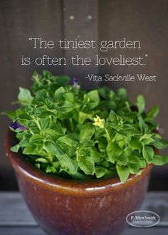 Never forget... No matter where you live you too can garden!