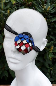 Scaled Eye Patch Red Silver and Blue Patriotic by AndraCassidy $25 on Etsy https://www.etsy.com/listing/159102635/scaled-eye-patch-red-silver-and-blue?ref=shop_home_active