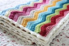 From Cherry Heart-great colors with bobble stitch edging-based on Neat ripple pattern and bobble stitch edging pattern from Attic24 (link to Attic24 is on blog)