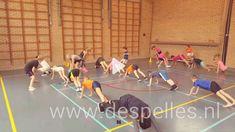 Mijnenveld / Minefield, een leuk spel voor in de gymles waarbij je beweegt en nadenkt tegelijk. Wie weet als eerste de weg naar de uitgang te vinden? Pe Games, Games For Kids, Sport Snacks, Camping Games, Do Exercise, Badminton, Physical Education, Physics, Basketball Court