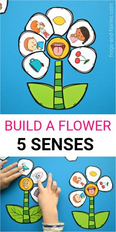 This hands-on printable activity will help your kids understand how they use their senses to learn about the world around them! Teaching kids about five senses can be a lot of fun! - Kids education and learning acts Five Senses Preschool, 5 Senses Activities, My Five Senses, Body Preschool, Preschool Learning Activities, Preschool Science, Preschool Activities, Teaching Kids, Early Learning