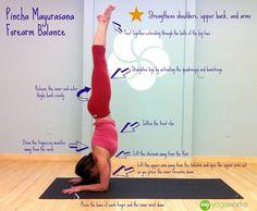 Forearm Balance Pincha Mayurasana Yoga Pose: my goal for the end of the month
