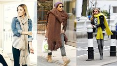 Love oversized scarves (except Lenny looks cray.)