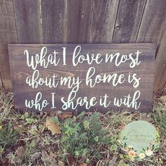 What I Love Most About My Home by TheTurqTumbleweed on Etsy.