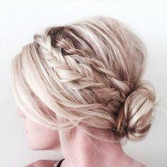 soft hair braided updos