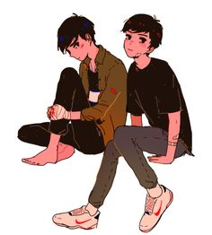Idk if it's SUPPOSED to be dan and phil..... BUT IM PROCLAIMING THAT IT IS SO HERE