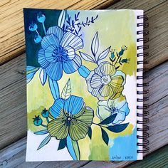 24/365 #makewells365 ok, this is my favorite so far... Only 341 to go! ;) #makewells #sketchbook #floral #botanical #art