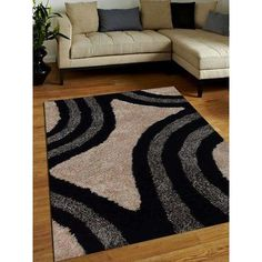 Get My Rugs Hand-Tufted Black/Ivory Area Rug Rug Size: