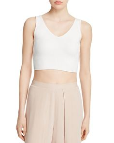 Olivaceous Ribbed Crop Top