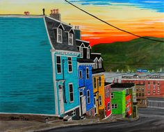 Wired by Bobbi Pike. Holloway Street in downtown St. John's is often referred to as the 'Jellybean Row' of the city. This street seems to capture most of what St John's is known for; Vibrant Jelly Bean Row houses, historic buildings, crazy hills, amazing scenery and an awesome harbour front. Throw in some awesome food and 'down to earth' people and you're in Sin Jawns.