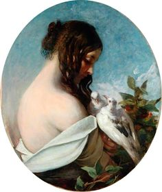 William Etty - Woman with Doves
