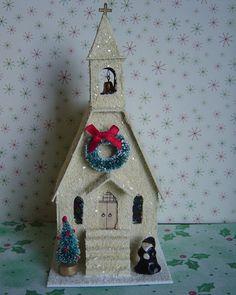 Christmas Village Putz Church