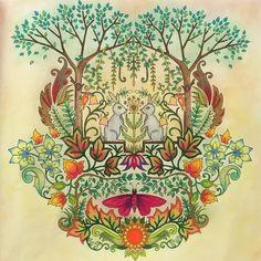Rabbit enchanted forest by Liene Ura
