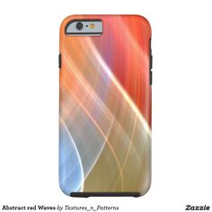 Abstract red Waves Tough iPhone 6 Case  #red #abstract #pattern #lines #wave #movement #swing #light #rays #colorful #background #texture #mood #lights #color #motion #iphonecase #iphone
