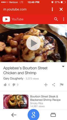 Applebee S Bourbon Street Chicken And Shrimp Copy Cat