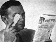 Popular Mechanics: The 110 Best DIY Tips Ever - The August 1955 issue told a farsighted person to punch a pinhole in cardboard and peer through it to read small type. It still does the trick! Pinhole Lens, Do It Yourself Crafts, Popular Mechanics, Things To Know, Strange Things, Home Repair, Good To Know, Helpful Hints, Something To Do