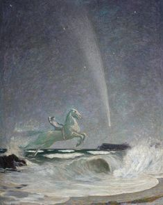 Wave Rider, 1910 by Frederick Samuel Beaumont (English, 1861–c.1950)