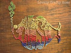 DIY String Art Tutorial Lovely Crafty Home
