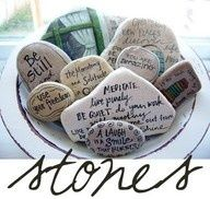 Could be a neat project, write Bible verses on rocks and put in a basket in the living room.