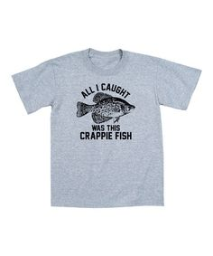 Love this Athletic Heather 'Crappie Fish' Tee on #zulily! #zulilyfinds
