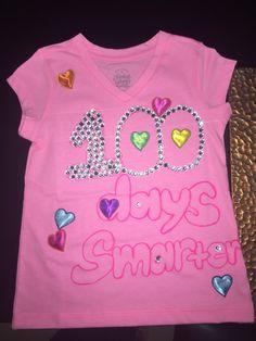 My daughter's 100th day of school shirt #DIY