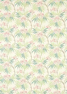 Arberella  Rose/Ivory fabric by Sanderson
