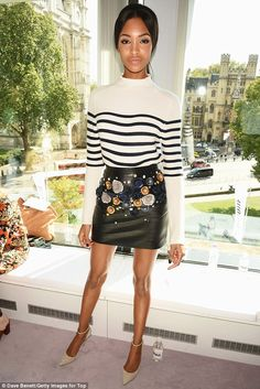 Jourdan Dunn - Topshop Unique Spring 2016 Front Row - September 20, 2015 #LFW #FROW
