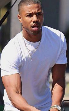 Michael b. Jordan by any means necessary! ♥️♥️♥️♥️♥️ Fine Black Men, Gorgeous Black Men, Handsome Black Men, Fine Men, Beautiful Men, Michael Bakari Jordan, By Any Means Necessary, Cute Black Boys, Fine Boys