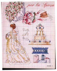 Схемы вышивки к свадьбе. | Вышивка крестиком