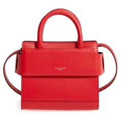 Women's Givenchy Nano Horizon Calfskin Leather Tote (38 005 UAH) ❤ liked on Polyvore featuring bags, handbags, tote bags, red, tote purses, red purse, shopping bag, givenchy handbags and givenchy purse